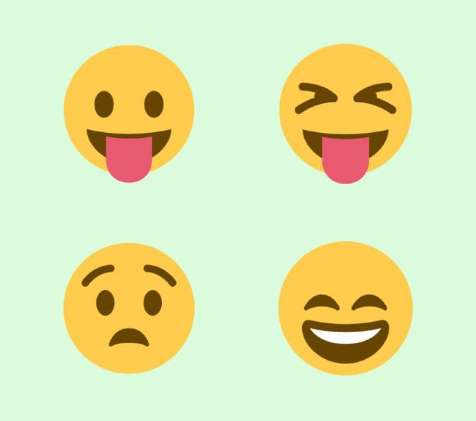Descarga GRATIS todos los emoticons en vectores