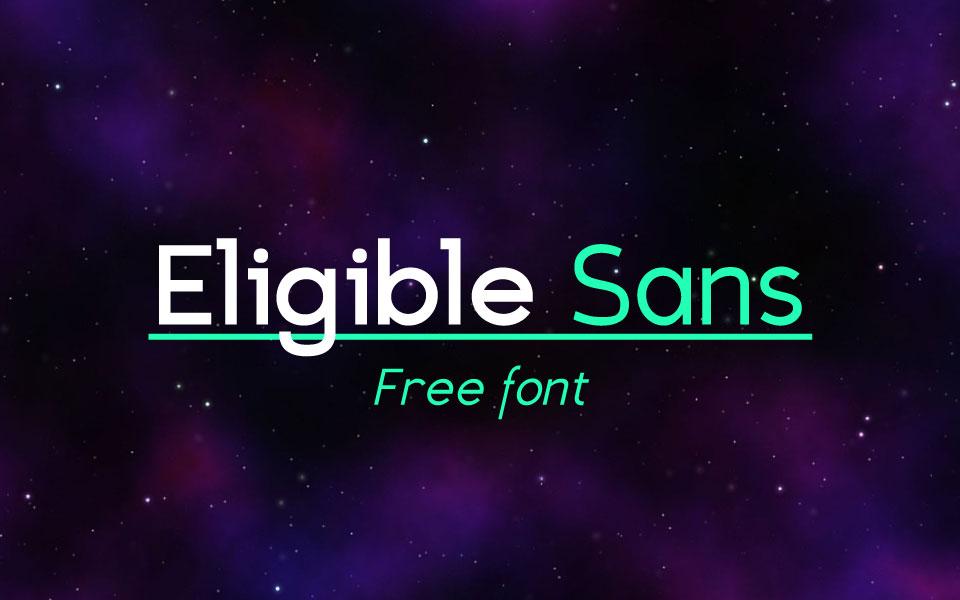 Eligible Sans free font