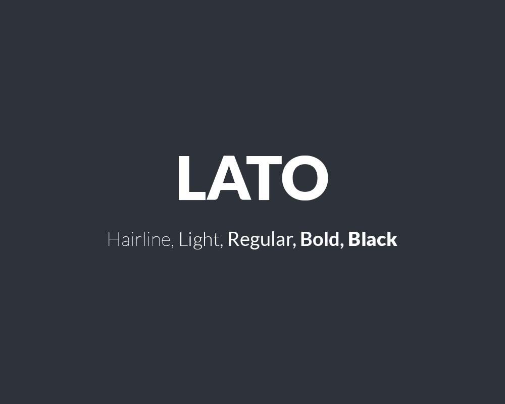 Lato family free font