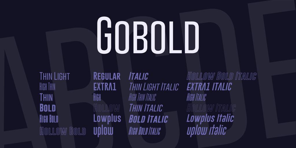 Gobold free font