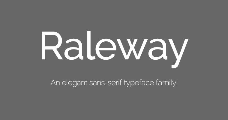 Raleway free font